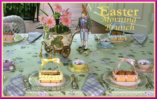 Easter Cookie Baskets and Easter Table