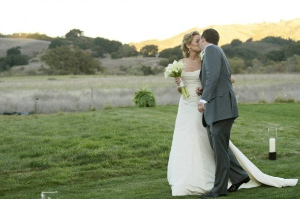 Outdoor california wedding