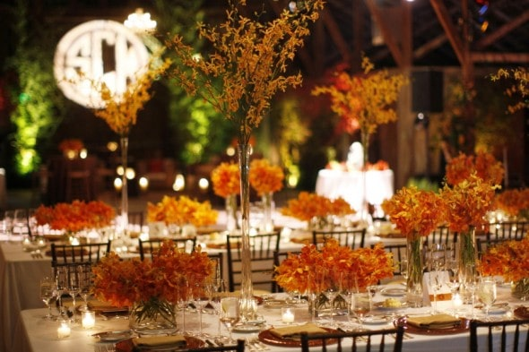 Orange Wedding Table Design