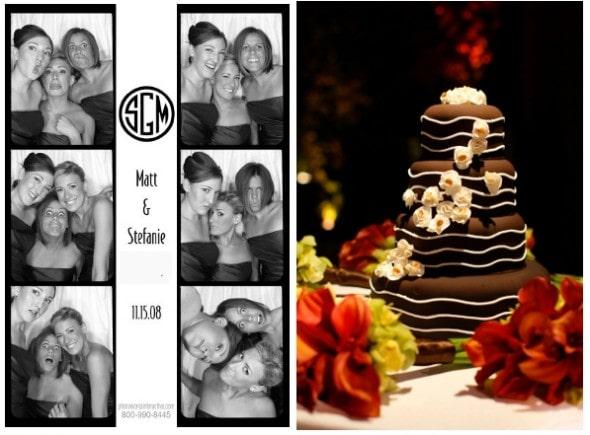 Wedding Photo Booth Chocolate Wedding Cake