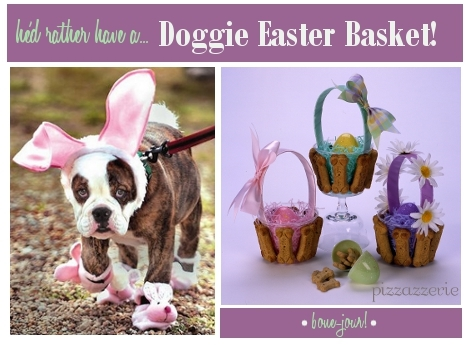 Dog Easter Baskets and Costume