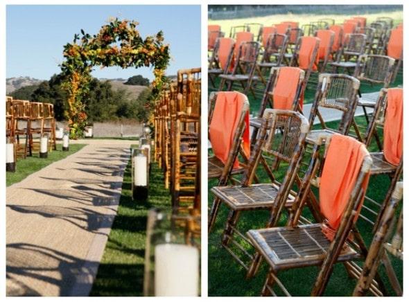 Orange Brown Outside Wedding