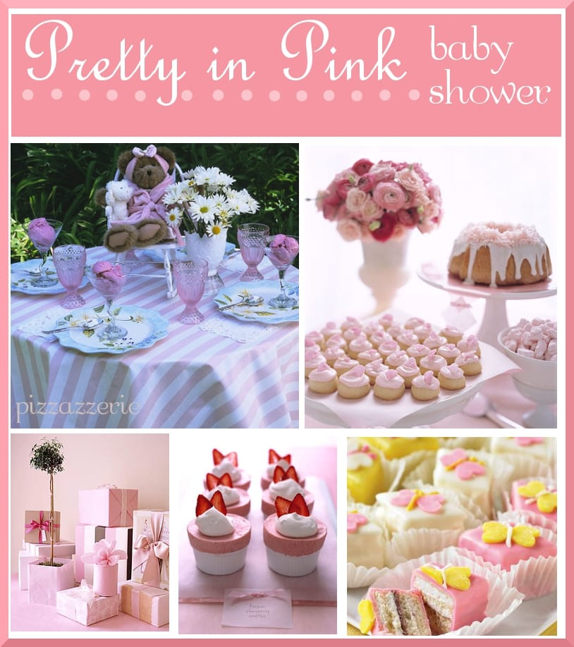 Pink Baby Shower Table