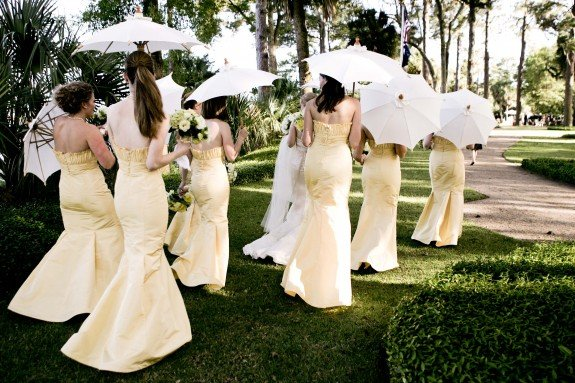 Yellow Parasol Wedding
