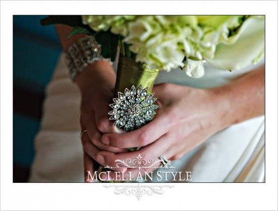 Bouquet with Brooch of Rhinestones