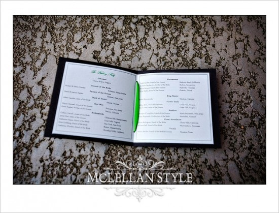 Wedding program handmade