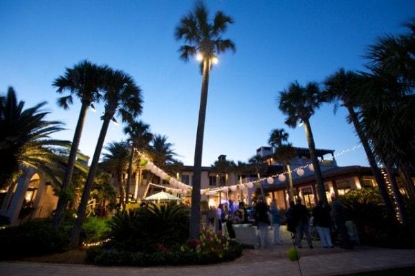 Outdoor wedding reception site