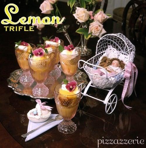 Baby Shower Lemon Trifle Dessert