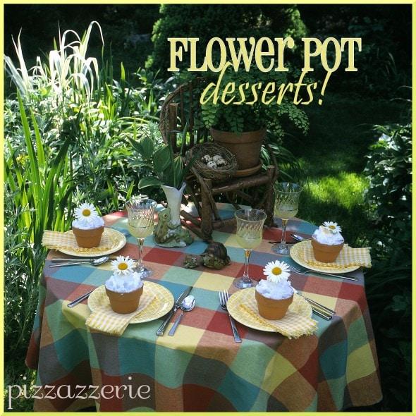 Baked Alaska Flower Pot Desserts