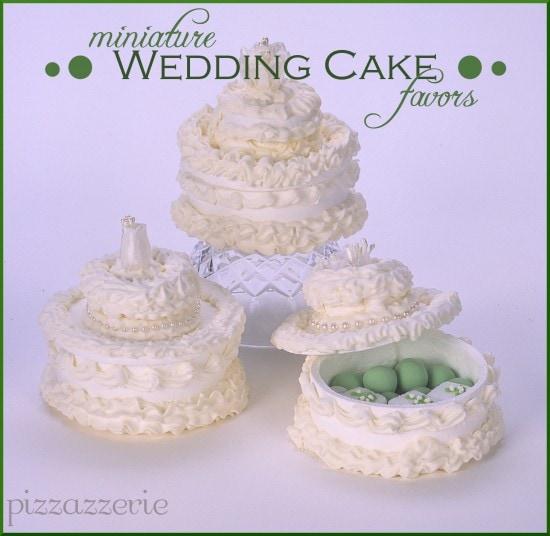 Miniature Wedding Cake Favor Boxes