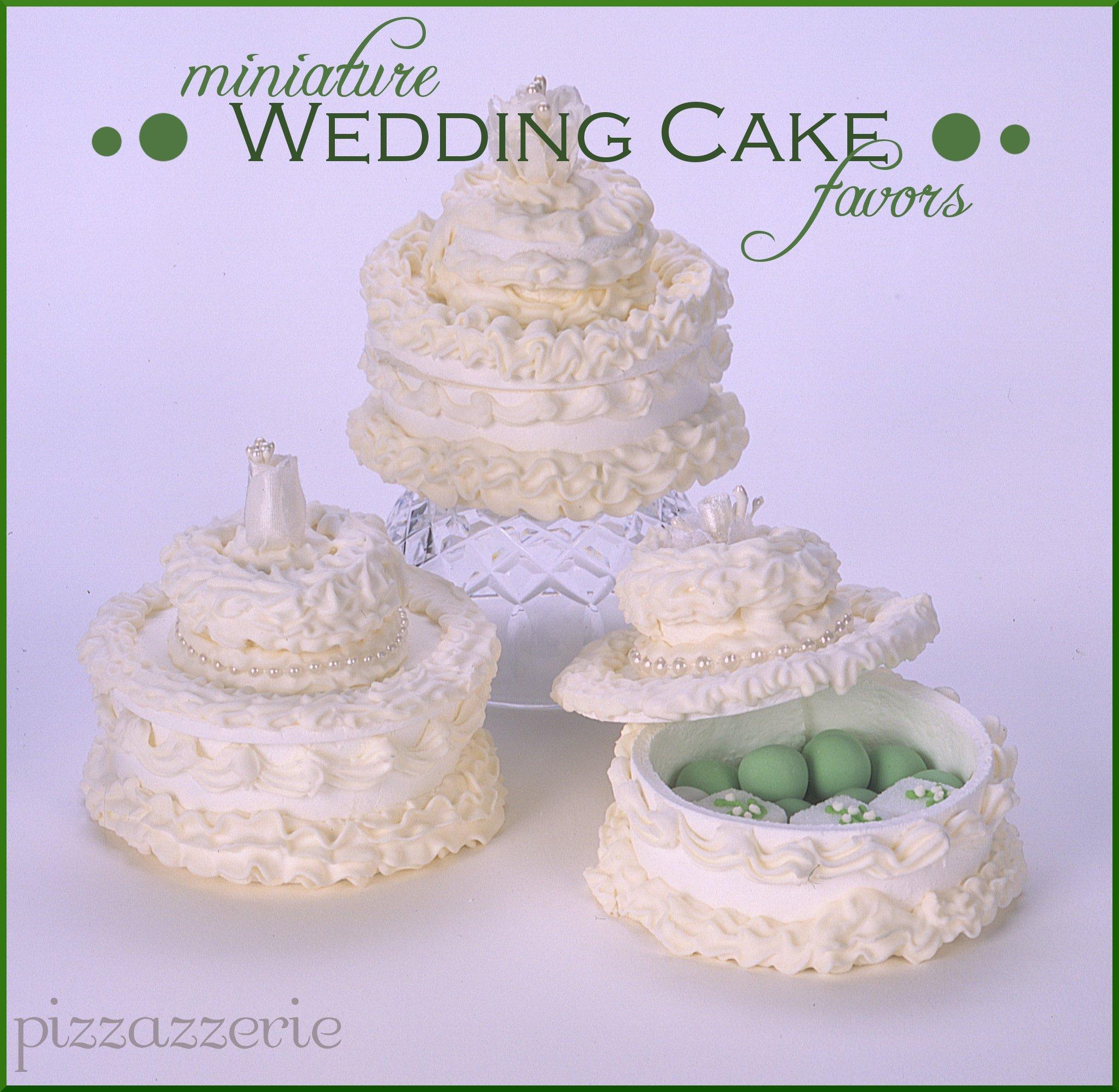 Bridesmaid Luncheon Miniature Wedding Cake Favors Pizzazzerie