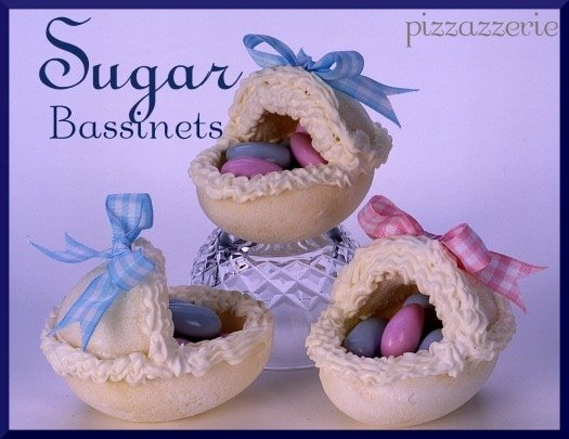 Pressed sugar bassinet for baby shower