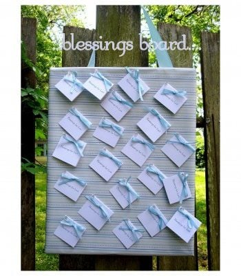 Blessings Board for Baby Shower