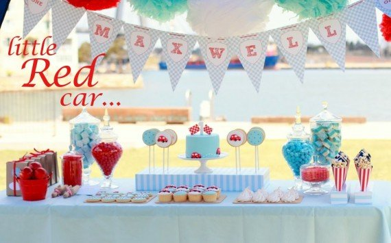 Children's Little Red Car Birthday Party