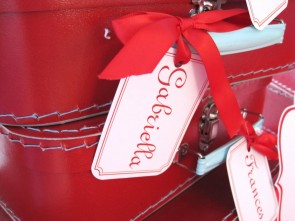 Red Madeline Suitcase