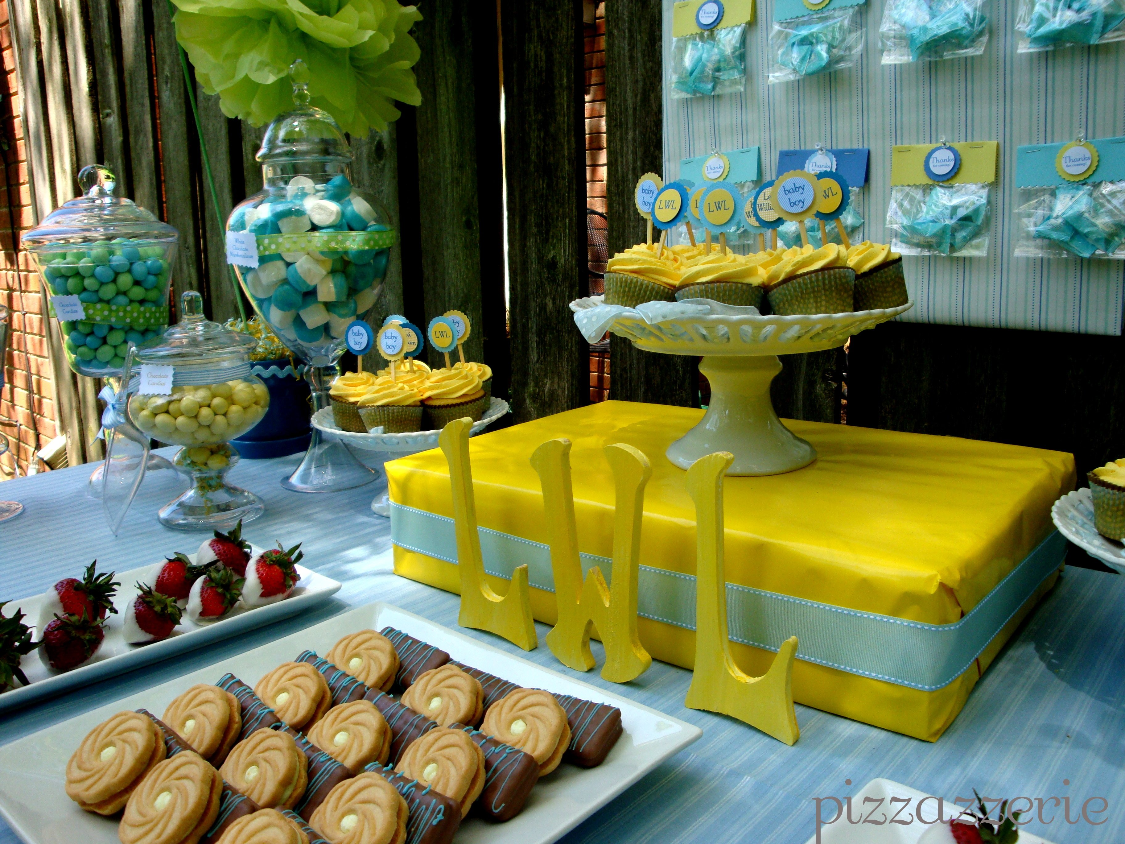 Blue Yellow Baby Shower Pizzazzerie