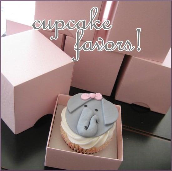 Elephant Cupcake Favors