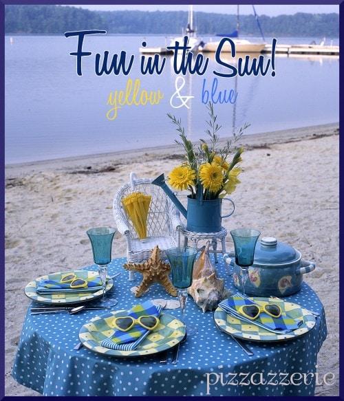 Beach Fun in the Sun Table