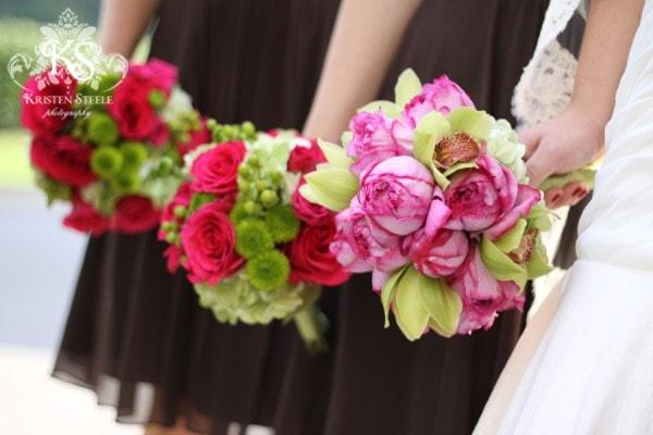 Pink Wedding Bouquets