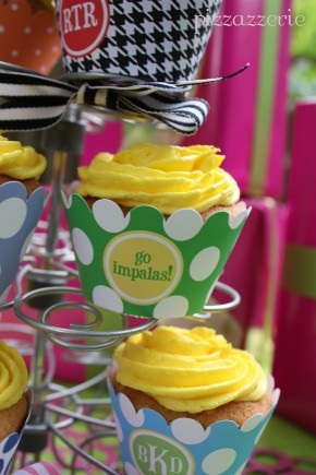 Monogrammed Cupcake Wrappers