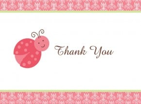 Ladybug Thank you Notes