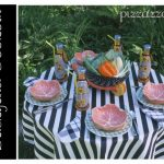 Black and White Backyard Cookout Table