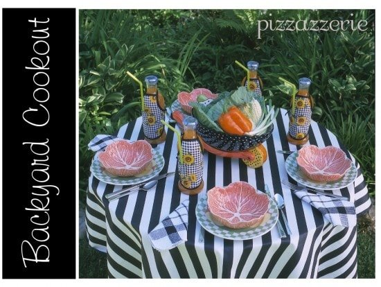 Backyard Cookout with Bottle Aprons!
