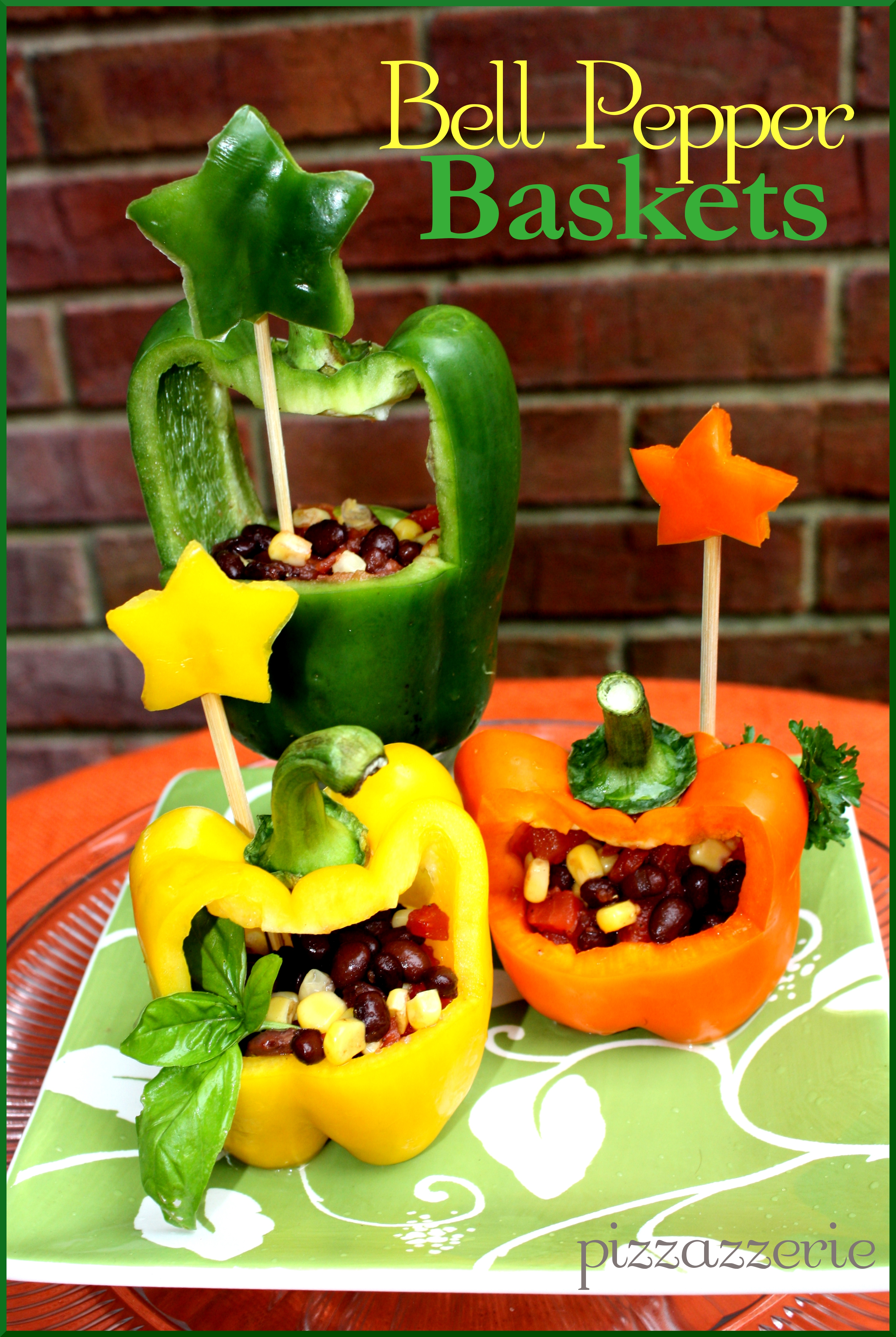 Bell Pepper Baskets Pizzazzerie