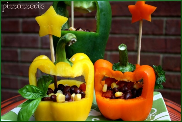 Bell Pepper Black Bean Salad Basket