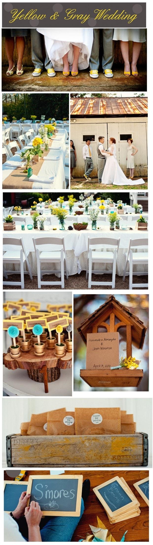 Yellow & Gray Wedding