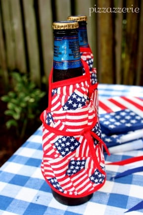 Memorial Day Bottle Aprons