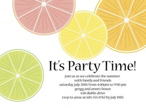 Lemon and Lime Slice party Invitation
