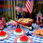 Memorial Day Barbeque Table