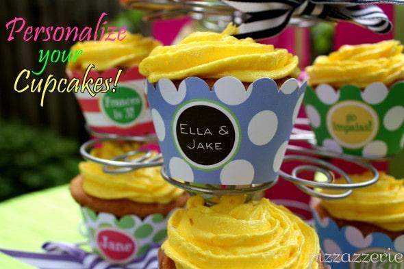 Monogrammed Cupcake Wrapper