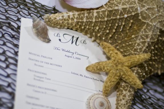 Starfish Wedding Program
