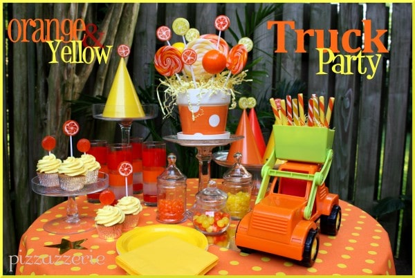 Orange & Yellow Truck Party