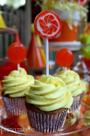 Orange and Yellow Cupcake