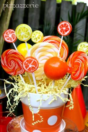Orange and Yellow lollipops