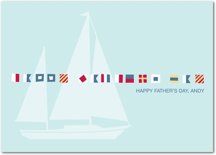 Sailboat Father's Day Greeting Card