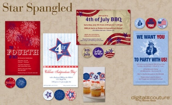 July 4th Digital Designs