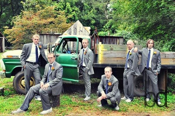 Groomsmen Truck Picture