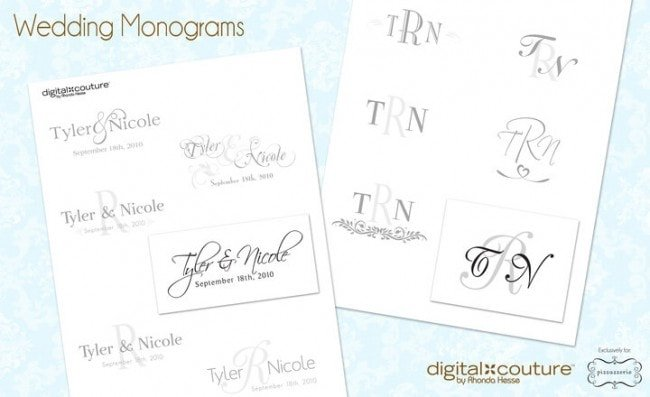 Wedding Monograms: Digital Couture