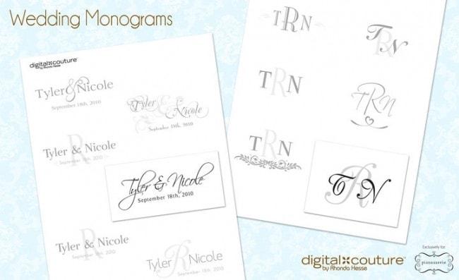 Wedding Monogram Examples