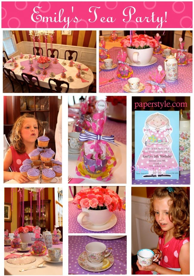 Little Girl's Tea Party