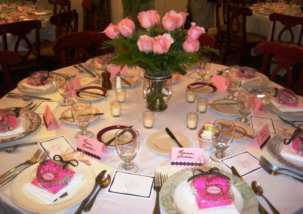 Pink and Brown Wedding Shower