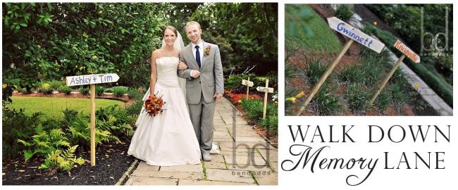 Walk Down Memory Lane Wedding