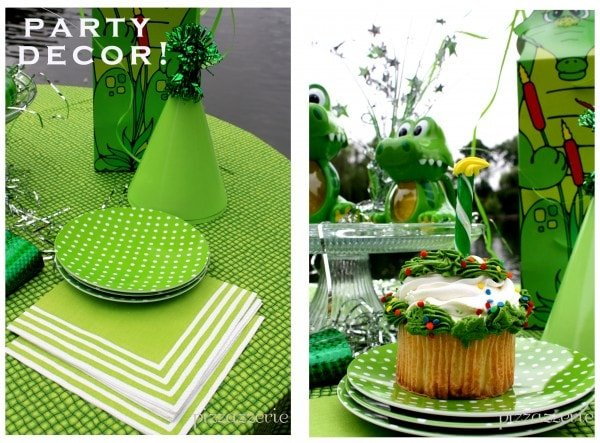 Green Party Decor - Napkins and Plates