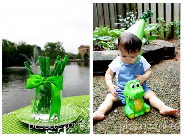 Green Boy's Birthday Party with Alligator