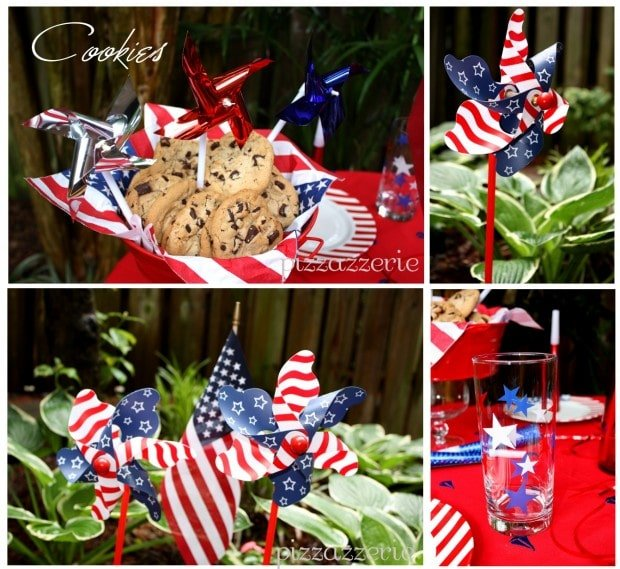 4th of July Party Dessert and Table