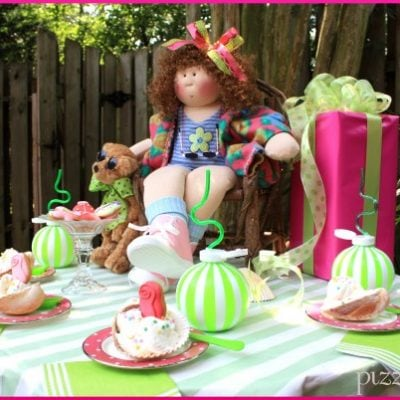 Seashell Girl's Ice Cream Birthday Party